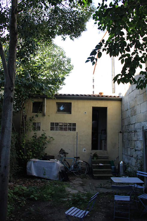 élévation sur jardin avant travaux:  de style  par Cécilia Cretté architecte