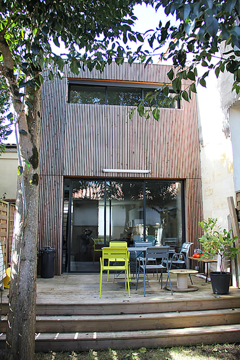 élévation sur jardin après travaux:  de style  par Cécilia Cretté architecte