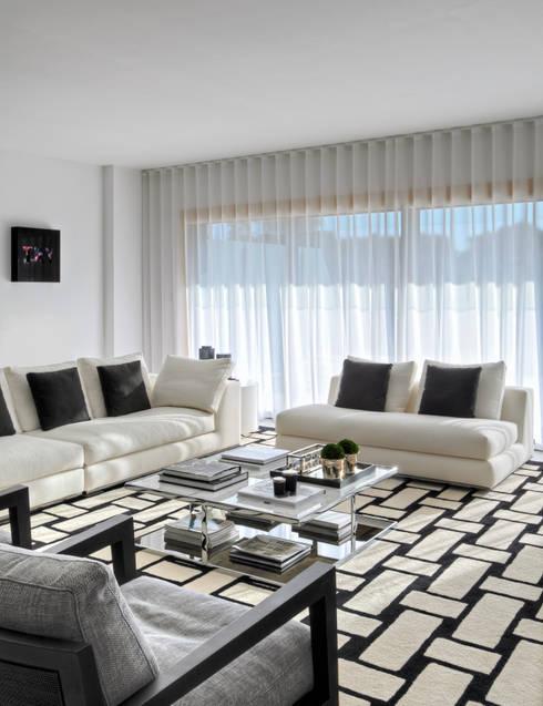 Apartamento Cascais: Salas de estar modernas por Silvia Costa |  Arquitectura de Interiores