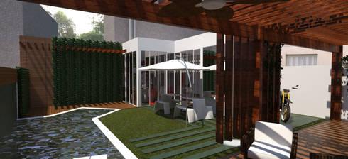 Área de Lazer: Piscinas modernas por Cris Manzolli  Arquiteta