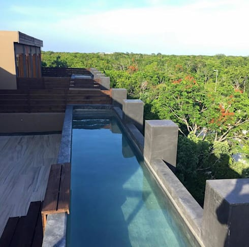 Pools and Jungle: Terrazas de estilo  por JCandel