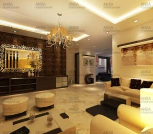 Residential: asian Living room by ANSA Interiors