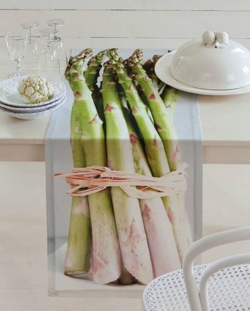 Spargel mal anders - Tischläufer: ausgefallene Küche von APELT STOFFE