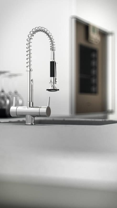 AUS 01 APPARTAMENTO N.4: Cucina in stile in stile Moderno di 3Dedintorni