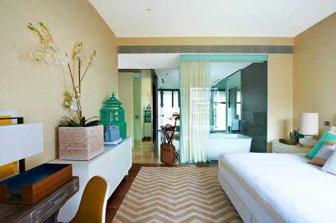 Geometric Harmony: Quartos ecléticos por Viterbo Interior design