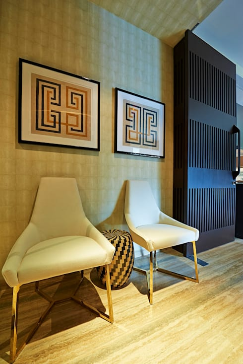 Geometric Harmony: Corredores e halls de entrada  por Viterbo Interior design