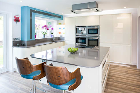 How to decorate a kitchen that s also part of the living room