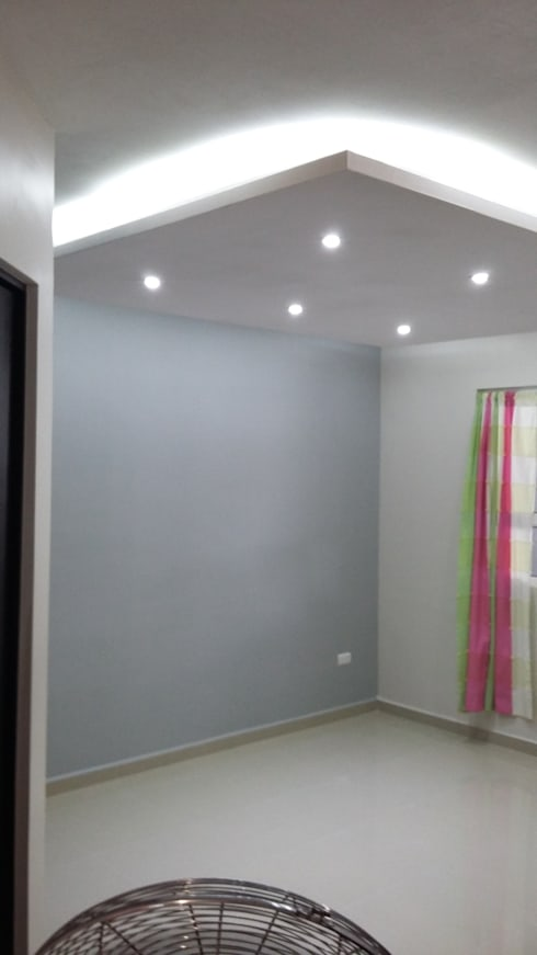 Plafón: Salas de estilo minimalista por VIVAinteriores