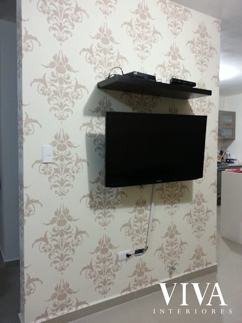 Gaeta 113: Salas multimedia de estilo moderno por VIVAinteriores