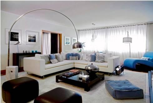 Zona de Estar : Salas de estar modernas por Andreia Marques Designer de Interiores