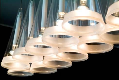 Candeeiro de Tecto : Salas de jantar modernas por Andreia Marques Designer de Interiores