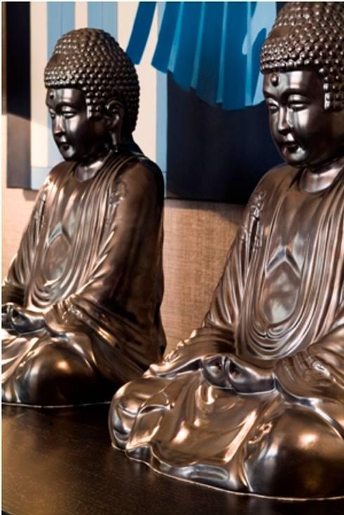 Buda em cerâmica : Salas de jantar modernas por Andreia Marques Designer de Interiores