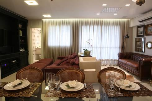 APARTAMENTO   VB: Salas de jantar clássicas por AC Arquitetura + Design