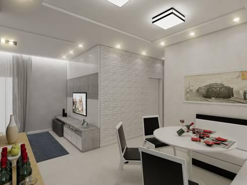 Apartamento AG: Salas de jantar modernas por Merlincon Prestes Arquitetura