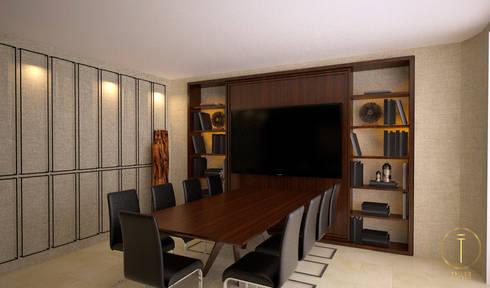 Sala de juntas: Oficinas y tiendas de estilo  por Taller 03