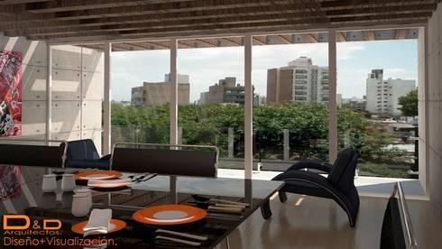 Proyectos y Espacios: Comedores de estilo moderno por D&D Arquitectos
