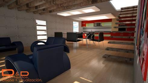 Proyectos y Espacios: Salas de estilo moderno por D&D Arquitectos