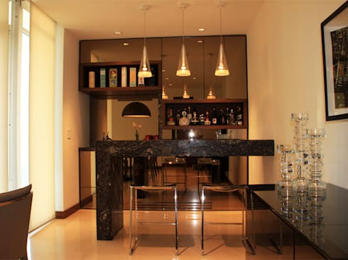 Departamento: Cocinas de estilo moderno por AaC+V Arquitectos