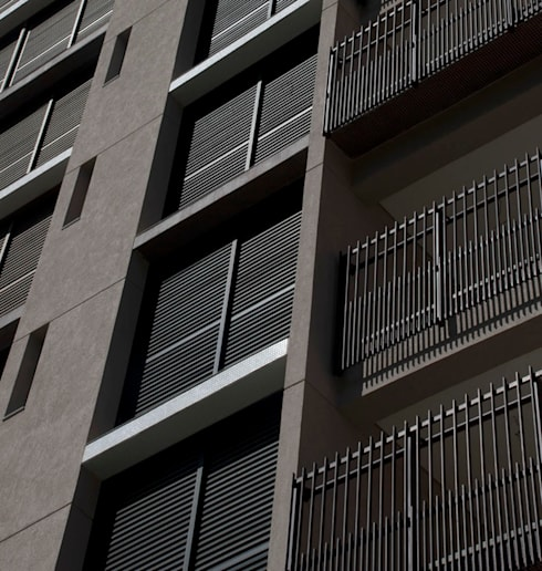 Edifício   Vila Madalena – 1: Terraços  por ARQdonini Arquitetos Associados