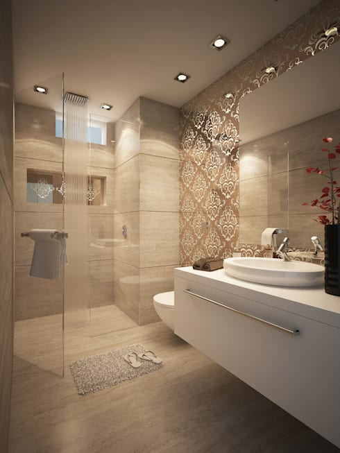 Guest Bathroom: modern Bathroom by FUSSON STUDIO