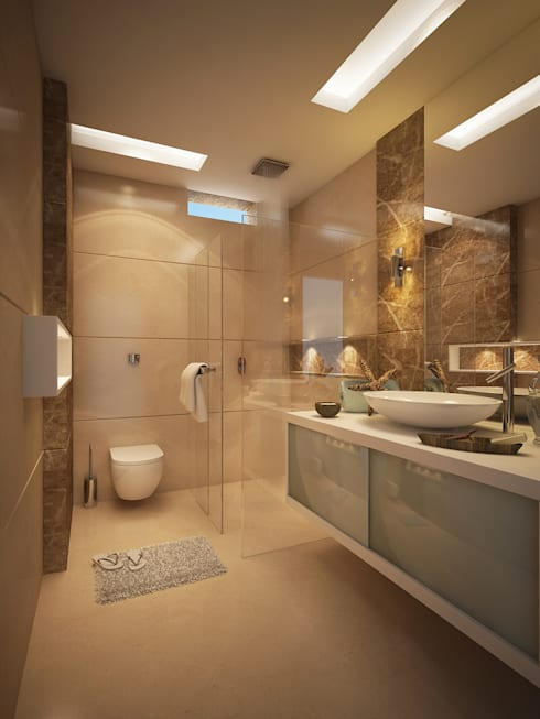 Son's Bathroom: modern Bathroom by FUSSON STUDIO