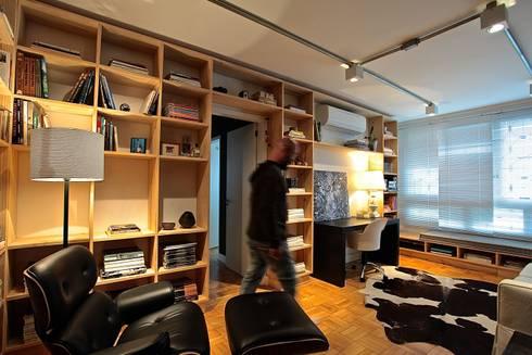 Apartamento AC: Salas de estar modernas por Super StudioB