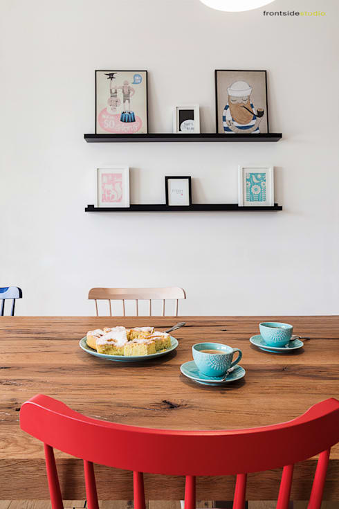 scandinavian Dining room by PracowniaPolka