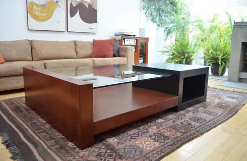 Mesa de centro: Salas de estilo minimalista por Xarzamora Diseño