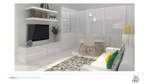 Sala de Estar/Jantar e Cozinha - 3D:   por In&Out