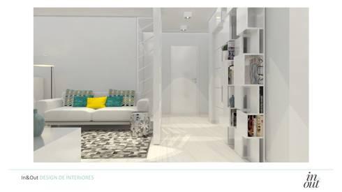 Sala de Estar/Jantar e Cozinha – 3D:   por In&Out
