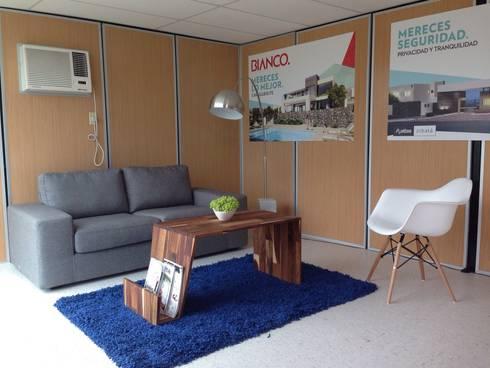 Sala de espera: Oficinas y tiendas de estilo  por Xarzamora Diseño