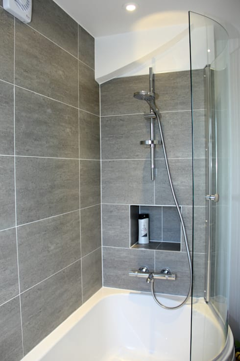Loft Conversion, Rayners Lane: modern Bathroom by London Building Renovation