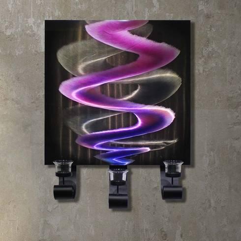 kerzenhalter f r die wand aladin i handgefertigter wandkerzenhalter von designwerkstatt. Black Bedroom Furniture Sets. Home Design Ideas