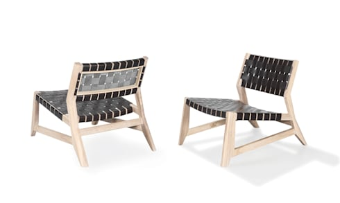 ODHIN LOUNGE CHAIR: Casa  por Wewood - Portuguese Joinery
