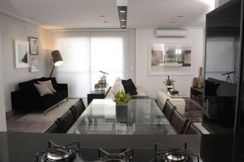 SALA DE JANTAR: Salas de jantar modernas por Fernanda Moreira - DESIGN DE INTERIORES