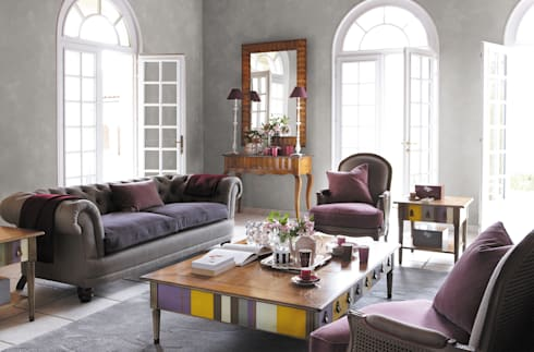 JACOB: Salas de estilo moderno por Grange México