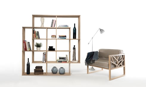 TREE LOUNGE CHAIR: Casa  por Wewood - Portuguese Joinery