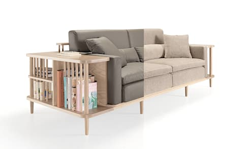 SCAFFOLD SOFA: Casa  por Wewood - Portuguese Joinery
