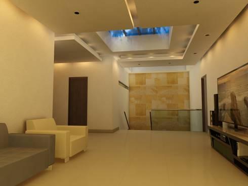 Remodelación Casa Lomas de Arbide: Salas de estilo moderno por Flores Rojas Arquitectura