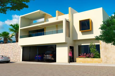 Remodelación Casa Lomas de Arbide: Casas de estilo moderno por Flores Rojas Arquitectura