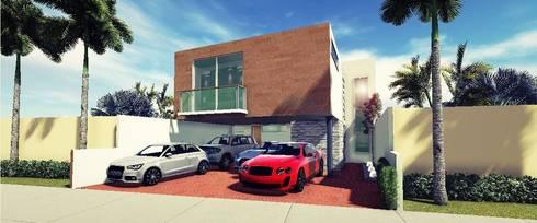 Proyectos y Espacios: Casas de estilo moderno por Martin Pozos Arquitecto