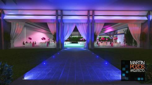 Proyectos y Espacios: Jardines de estilo moderno por Martin Pozos Arquitecto