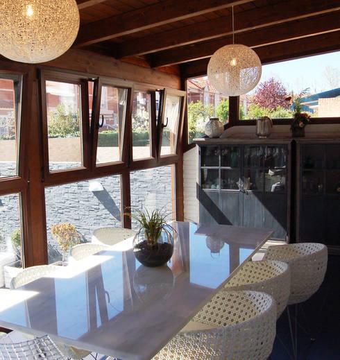 Vivienda en Getafe, Madrid: Terrazas de estilo  de Arquitectura de Interior