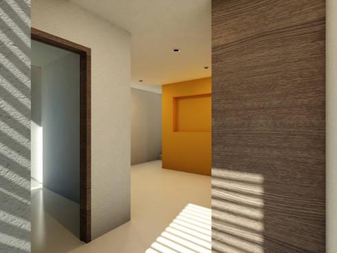 Remodelación  Tiber 107: Recámaras de estilo minimalista por Flores Rojas Arquitectura