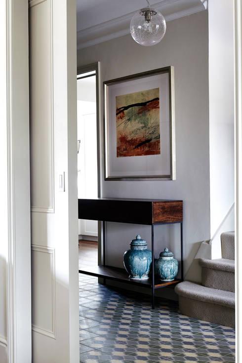eclectic Corridor, hallway & stairs by Studio Duggan