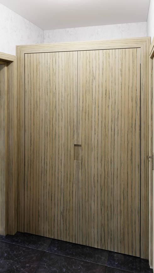 Closet: Recámaras de estilo moderno por diesco