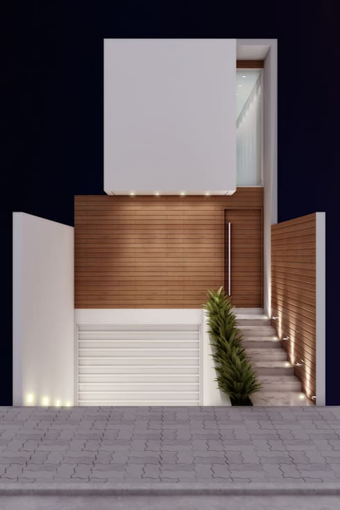 Residência 4x22: Casas modernas por Merlincon Prestes Arquitetura
