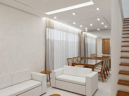 Residência 4x22: Salas de jantar modernas por Merlincon Prestes Arquitetura