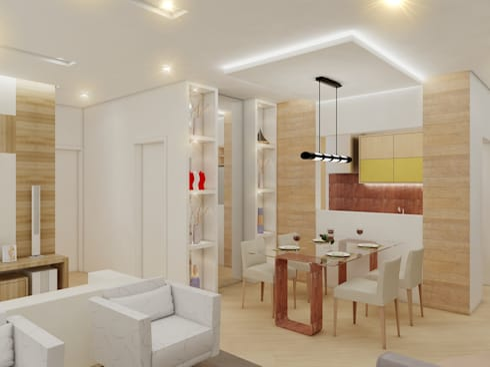 Apartamento FL: Salas de jantar modernas por Merlincon Prestes Arquitetura