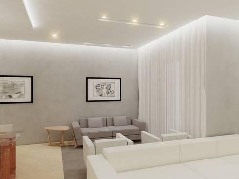 Apartamento FL: Salas de estar modernas por Merlincon Prestes Arquitetura